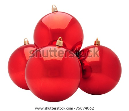 Baubles. Isolated - stock photo