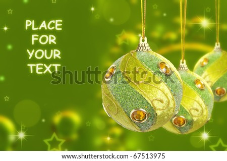 Baubles with place for wishes - stock photo