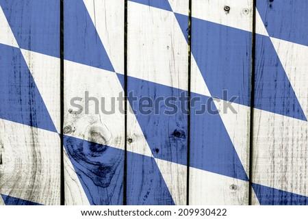 Bavaria flag on wooden background  - stock photo