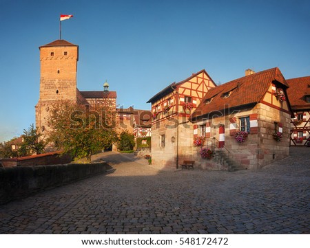 Bavaria, Germany: historic Nuremberg Castle.