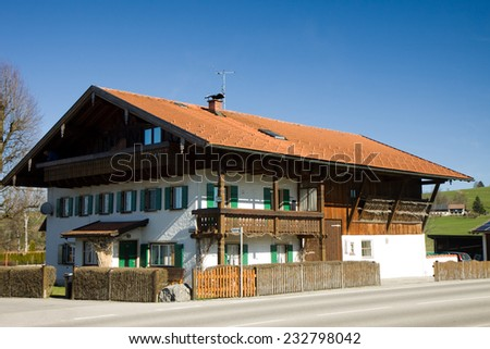 bavaria germany typiaca house of the area - stock photo