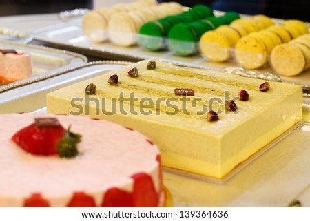 bavarian cream and  desserts selection