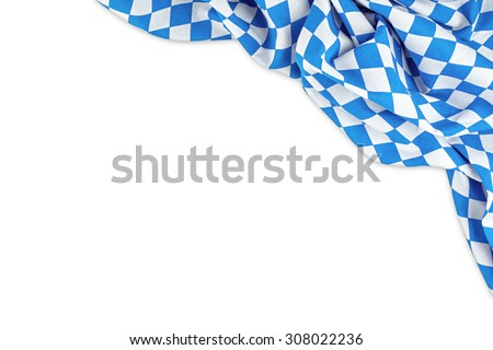 bavarian flag isolated on white background - stock photo
