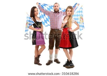 Bavarian friends - stock photo