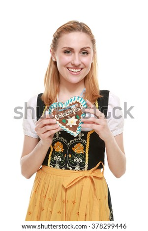 Bavarian girl - stock photo