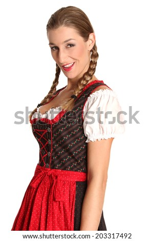 bavarian girl in a traditionally costume