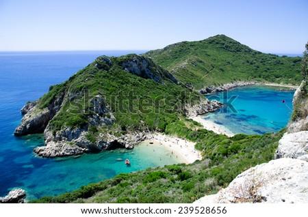 Bay at corfu - stock photo