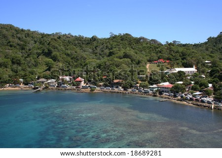 Bay at Isla Roatan - stock photo