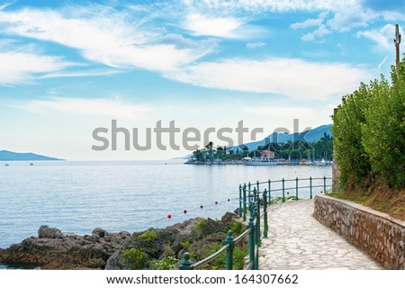 Bay at Opatija, Croatia. - stock photo