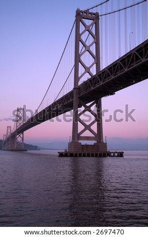 Bay Bridge At Dusk (San Francisco) - stock photo