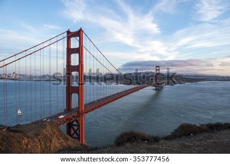 Bay bridge at Sanfrancisco   - stock photo