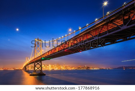 Bay Bridge in San Francisco, California - stock photo