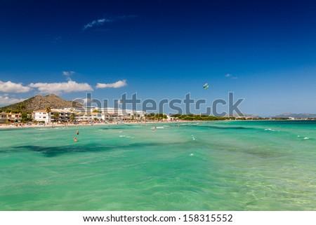 Bay of Alcudia, Mallorca, Balearic Islands, Spain - stock photo
