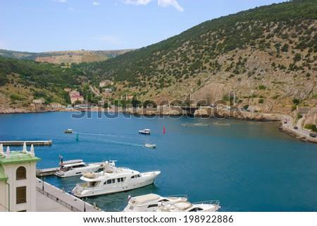 Bay of Balaclava, near Sevastopol, Crimea - stock photo