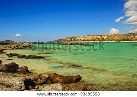 Bay of Elafonisi/Crete/Greece - stock photo