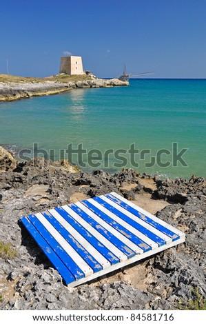Bay of Manacore, Apulia, Italy. - stock photo