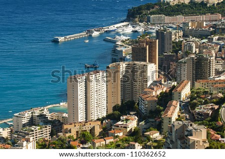 Bay of Monaco and Monte Carlo.Yachts and Ships