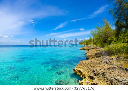 Bay of Pigs, Playa Giron in the southern coast of Cuba - stock photo