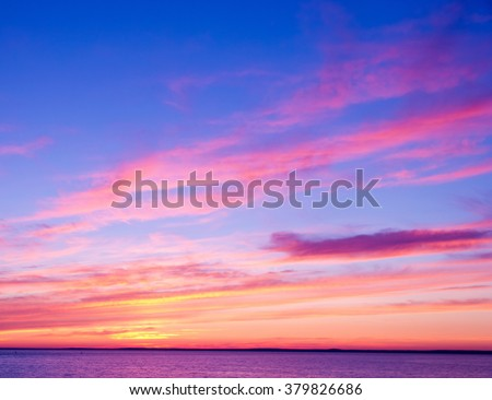 Bay View Night is Coming  - stock photo
