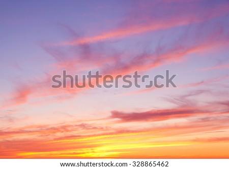 Bay View Sunset Paradise  - stock photo