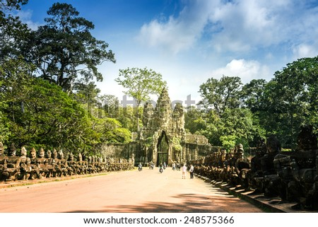 bayon ,siem reap ,Cambodia, was inscribed on the UNESCO World Heritage List in 1992. - stock photo