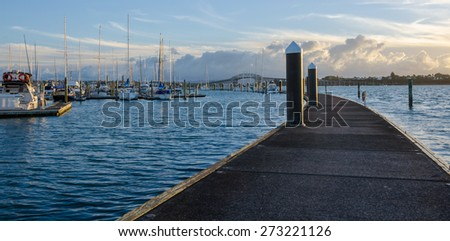 Bayswater Marina, Auckland, New Zealand - stock photo