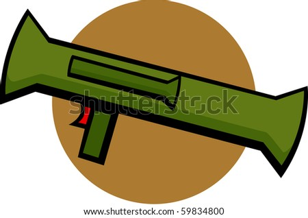 bazooka rocket launcher - stock photo