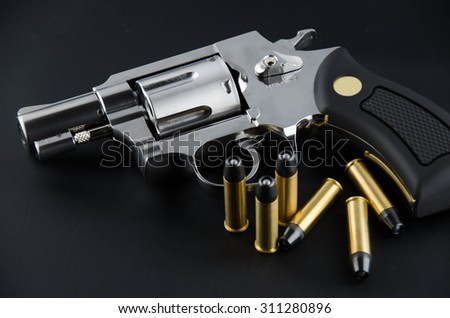 BB gun revolver - stock photo