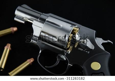 BB gun revolver - stock photo