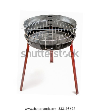 BBQ - Barbecue grill isolated on white background - stock photo