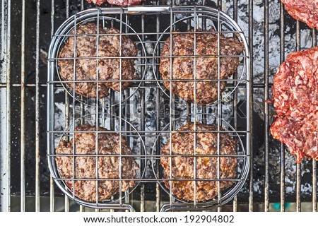 BBQ Burgers at the outdoor grill