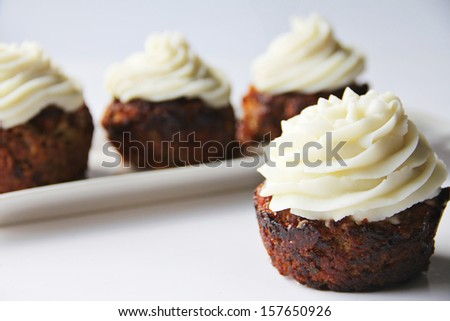 BBQ Meatloaf Cupcakes - stock photo