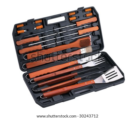 BBQ set of packing - stock photo