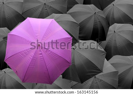 Be a different businessman concept  - stock photo