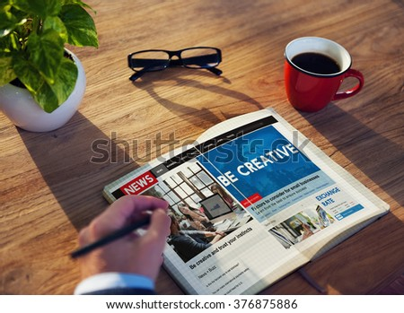 Be Creative Ideas Inspiration Imagination Innovation Concept - stock photo