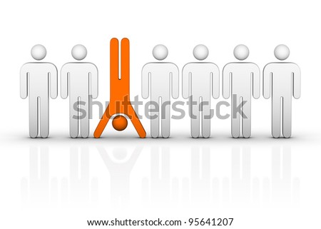 Be Different! - stock photo