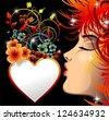 Be my Valentine Love Heart Kiss - stock vector