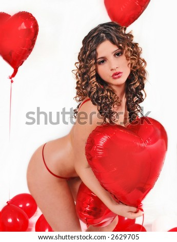 be my valentine's - stock photo