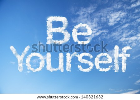 Be yourself cloud word - stock photo