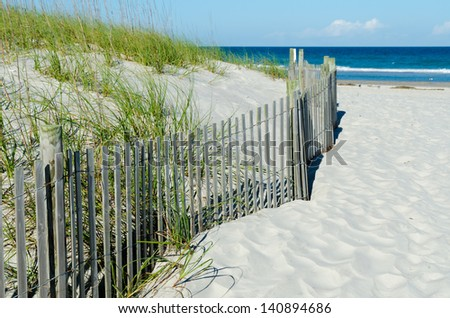 Beach access - stock photo