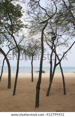 Beach access in Sai Kaew Beach Sattahip, Thailand - stock photo