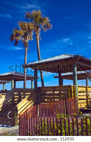 Beach Access Steps (exclusive at shutterstock) - stock photo