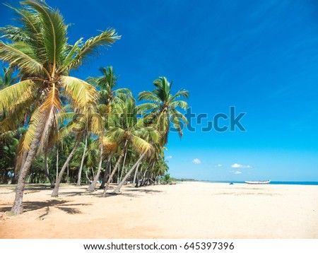 Beach and beautiful tropical sea.