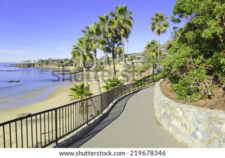 Beach and Coastline of Southern California, USA - stock photo