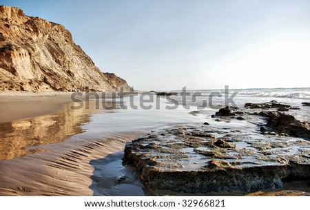 Beach and Ocean High Dynamic Range - stock photo