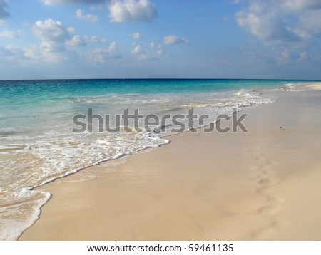 Beach and Ocean in Bermuda Island - stock photo