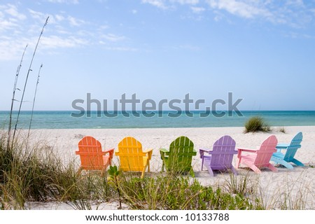 Beach and ocean scenics for vacations and summer getaways - stock photo
