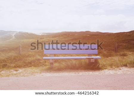 Beach and sand dune covered with Marram Grass, Germany, Sylt, List.