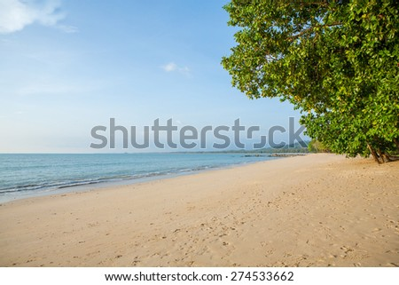 beach and tropical sea in Thailand