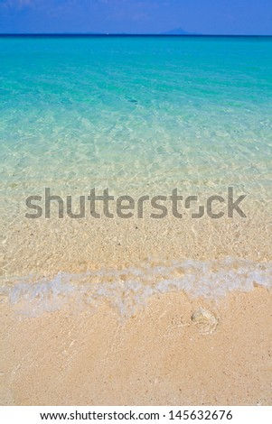 beach and tropical sea sand of Thailand sea - stock photo